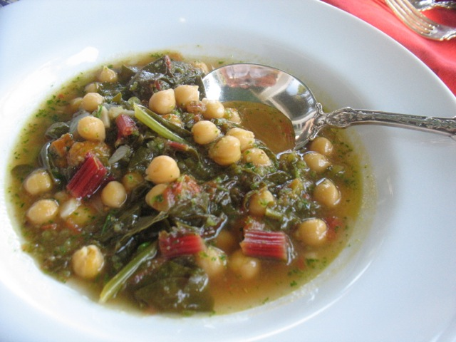 chard and chickpea stew