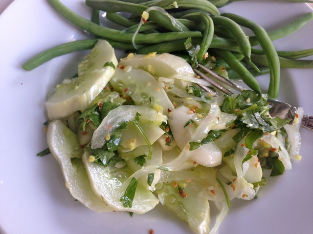 cucumber ginger garlic salad