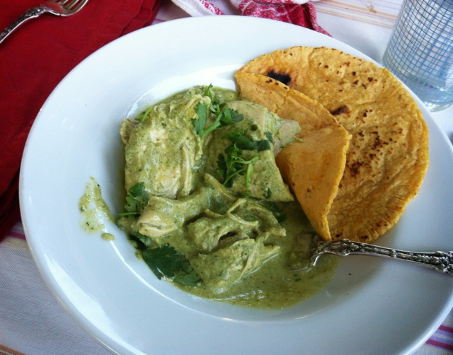 pipian verde with chicken