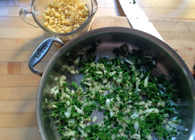 quick mac cheese w:parsley prep