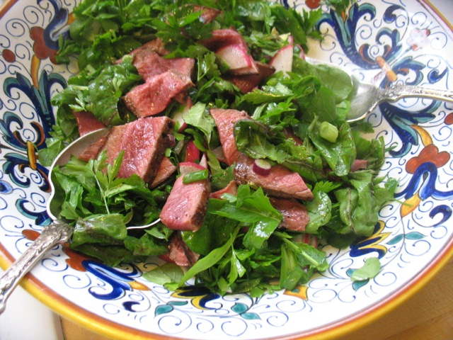 arugula flank steak salad