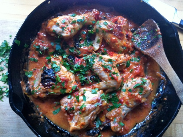 Italian-style chicken peppers tomatoes