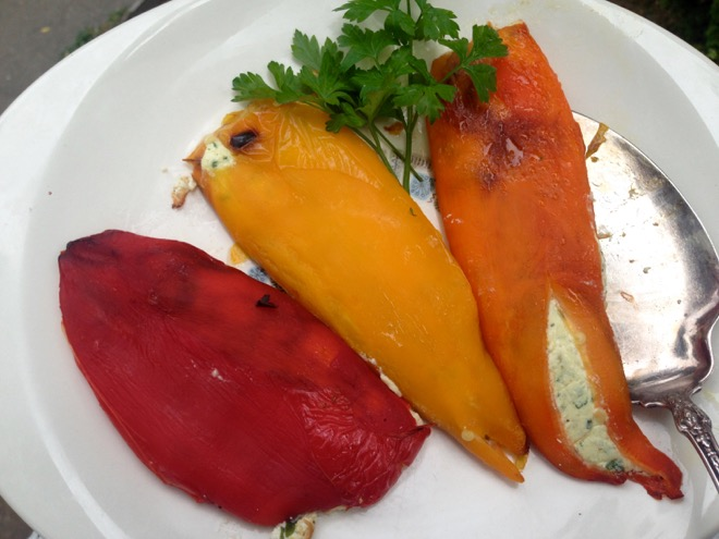 ricotta filled roasted peppers