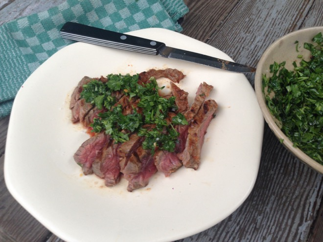 skirt steak w chimichurri