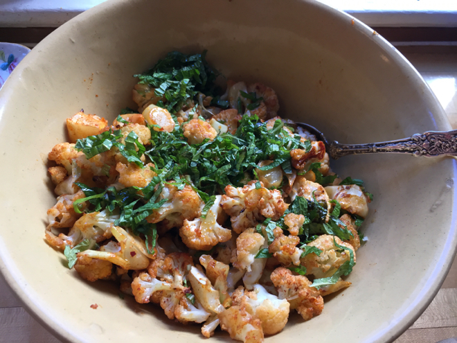 spiced cauliflower w: mint