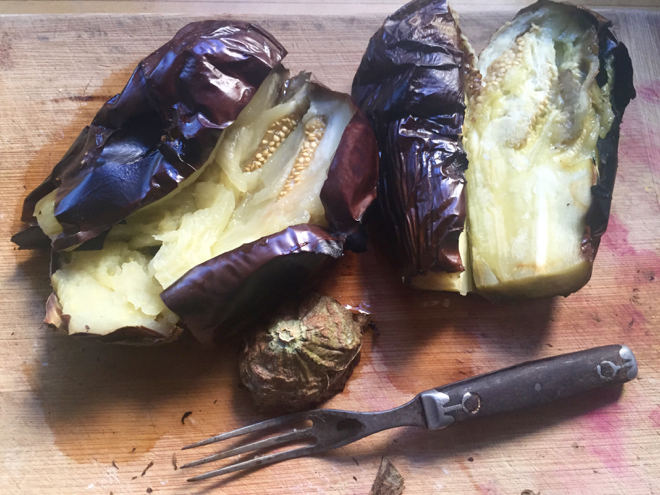 eggplant broiled for baba g